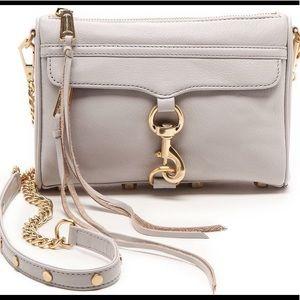Rebecca Minkoff Mini Mac Putty Crossbody bag gold